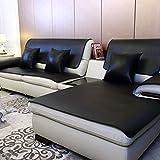 Leder Sofa-Überwürfe,Europäische Wasserdicht Sofabezug Vier jahreszeiten anwendbar Couch-abdeckungen Keine wäsche Anti-rutsch Sofa dämpfung Möbel-beschützer zu werfen(1 stück)-schwarz 80x150cm(31x59inch)