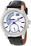 S.Coifman Men's Quartz Watch with White Dial Analogue Display and Black Leather Strap SC0289