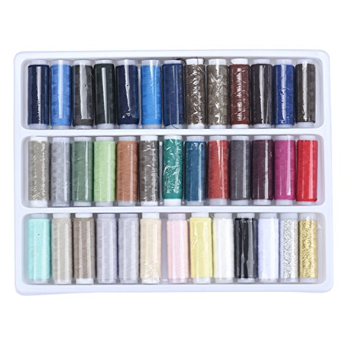 Generic Top Grand New 200 Yards , A Set of 39 Spools Different Color , Spolyester Sewing Thread , Sewing Machine Teryle Polyester Thread