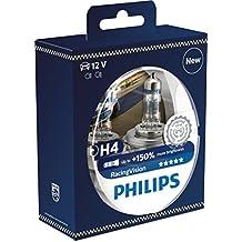 Philips 12342rvs2racingvision + 150% Faro H4, doble Juego
