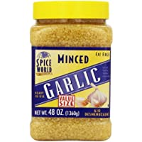 Spice World Fat Free Minced Garlic, 48 Ounce