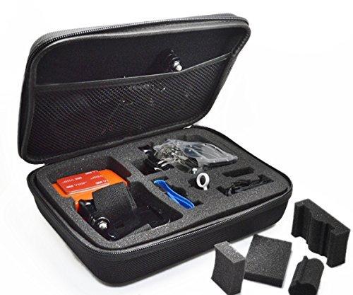 AFUNTA 8-in-1 Outdoor Sports Zubehör Starter Kit für Gopro Hero 5 / Session / 4/3/2 /1 HD Original Schwarz Silber SJ4000 SJ5000 SJ6000 Xiaomi Yi / WiMiUS / Lightdow / DBPOWER / dOvOb Kameras (Hero Silber-accessoires Gopro 3)