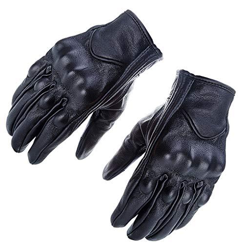 Laileya 1 par Retro de Cuero de la Motocicleta de Motocross Guantes del Tacto de Pantalla Completa Finger Guantes de protección Engranajes de Motos