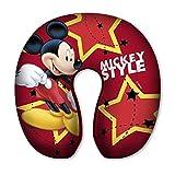 CUSCINO DA Viaggio Topolino Mickey Mouse Disney in Poliestere CM. 30 x CM. 30 x H. CM. 8 - 59655