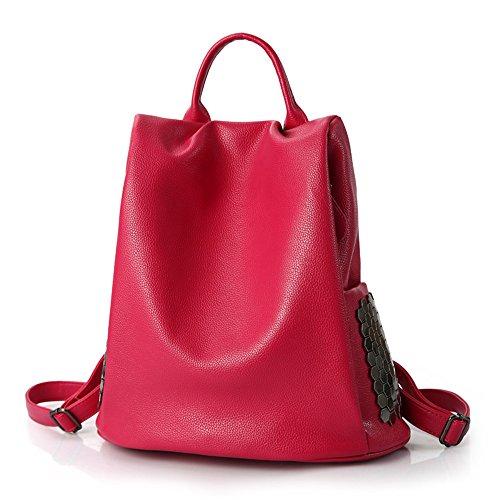 arz Schultertasche große Kapazität, Rose rot, 34 X 33 X 17 CM (Nova Mädchen Kleidung)