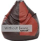 Stylecraft Xxxl Bean Bag (Without Beans ),Brown/Tan