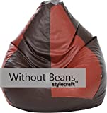 #3: Stylecraft Xxxl Bean Bag (Without Beans ),Brown/Tan