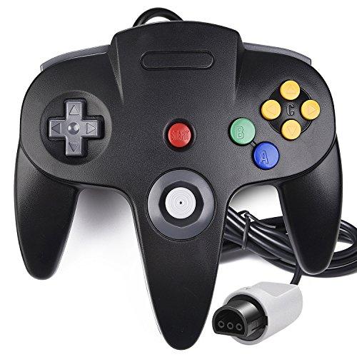 Ultra 1 Memory Card (N64 Controller, iNNEXT Classic Wired N64 64-Bit Gamepad Joystick für Ultra 64 Videospielkonsole, Schwarz)
