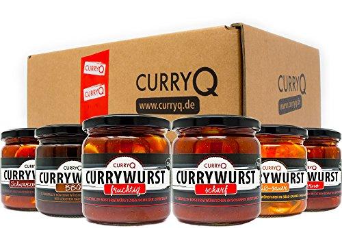 Currywurst im Glas Probierbox 2 in verschiedenen Varianten von CurryQ (6x350g)