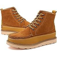 WZG moda casual stivali utensili Martin stivali nuovi uomini scarpe antiscivolo alta marea per aiutare gli uomini , brown , 40