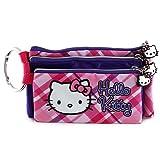 Hello Kitty 23755 Target Astuccio a 3 Cerniere, Rosa/Violetto