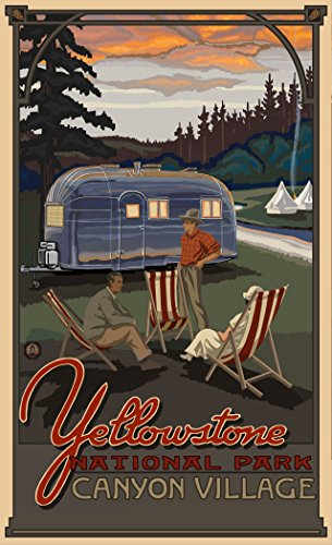 "Price comparison product image Northwest Art Mall PAL-4911 AIR Yellowstone National Park Airstream Trailer Print by Artist Paul A. Lanquist, 11"" x 17"""
