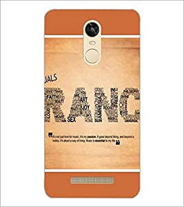 PrintDhaba Typography D-1392 Back Case Cover for XIAOMI REDMI NOTE 3 (Multi-Coloured)