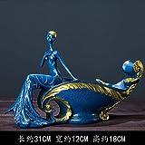 BAIOLL Decorativi Statue Ornamenti di Statue Europeo Bellezza Vino Cremagliera Armadietto del Vino Decorazioni Ornamenti Americano Vibrato Casa Soggiorno TV Mobile Display Regali, 31 * 12 * 18 Cm