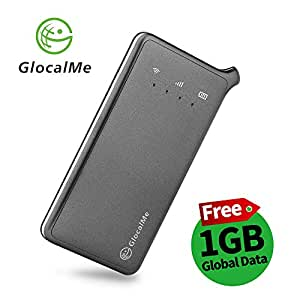 GlocalMe U2 4G mobiler Wi-Fi Hotspot Global MiFi with free 1GB initial global data, SIM Free, No Roaming in over 100 countries for smartphones, tablets, laptops(U2, grey)