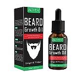 Bart-Wachstums-Öl für Männer, 30ml natürliches unscented Schnurrbart-Bart-Haar-Öl für Bart verdicken, aufbereitend