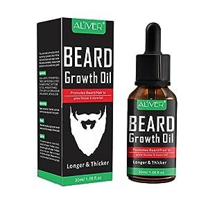 Allbesta Bio Bartöl/Beard Oil – Fuller und Dicker Bart Schnurrbart – rein natürliche Bartpflege – frischer Duft