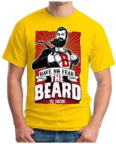 OM3 - SUPER-BEARD - T-Shirt GEEK, S - 5XL Gelb