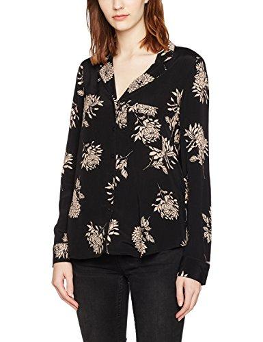 New Look 5057731-Camisa Mujer Negro Negro (Black Pattern 9) 42