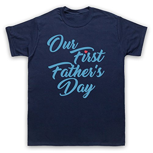 Our First Father's Day Baby Son Herren T-Shirt Ultramarinblau