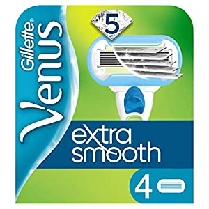 Gillette Venus Extra Smooth Womens Razor Blade Refills X4 With 3 Curve Hugging Blades