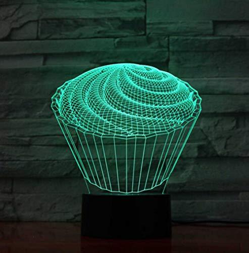 Joplc 3D Led Der Kuchen Tischlampe Decor Baby Schlafzimmer Schlaf Nachtlichter Nachttisch Dessert Leuchten Kinder Spielzeug Geschenke