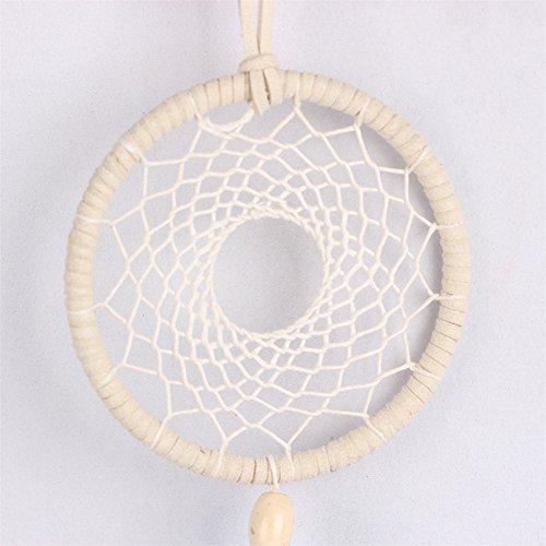 Acchiappasogni a rete con piume, realizzato a mano in stile tradizionale degli indiani d'America, decorazione da appendere alla parete o in auto, in vari stili, ottima idea regalo LD243 LD246