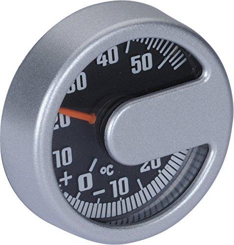 Preisvergleich Produktbild hr-imotion 10010301 Thermometer Modern für Auto, Heim, Camping, UVM. (Silber) [ in- & Outdoor Geeignet | Selbstklebend | Made in Germany - 20° C - +50° C]
