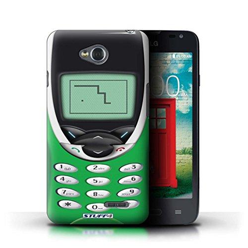 Kobalt® Imprimé Etui / Coque pour LG L65/D280 / Nokia 8210 noir conception / Série Portables rétro Nokia 8210 vert