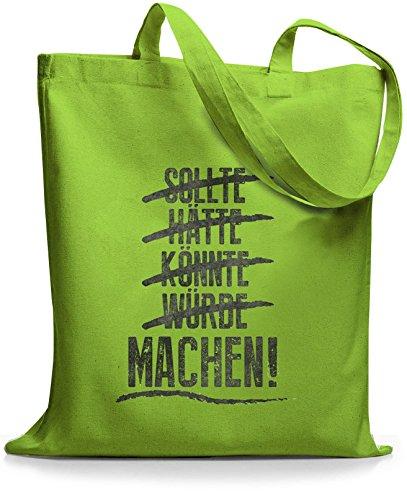 StyloBags Jutebeutel / Tasche Sollte Hätte Lime