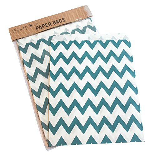 pack-of-25-party-sweet-chevron-zig-zag-bag-favour-birthday-gift-13x18cm-navy