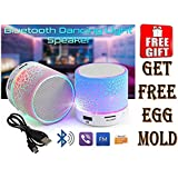 Mini Mushroom Portable Bluetooth Mobile/Tablet Speaker with free Egg mould (Assorted Color)