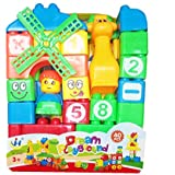 New 40pcs Building Blocks For Kids With Cartoon Figures, Bag Packing, Best Gift Toy (Multicolor)