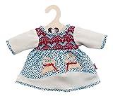 Heless 2251 - Abbigliamento per bambole, Vestitino invernale con fantasia scandinava, 35-45cm
