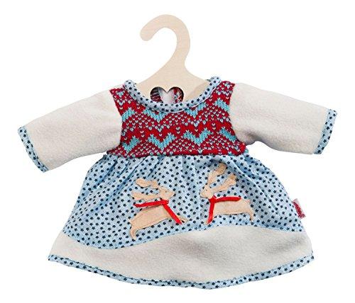 Heless 1251 - Abbigliamento per bambole, Vestitino invernale con fantasia scandinava, 28-33cm
