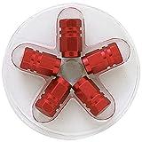 SUMEX 4006975 - Tapones Válvula Aluminio Hexagonal, Rojo