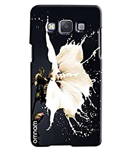 Omnam White Color Flower Effect Printed Designer Back Cover Case For Samsung Galaxy A5