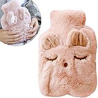 Preisvergleich für Wärmflasche mit Super Soft Luxury Plüschbezug,Wärmflasche mit dicken,Winter-warme Hände Kinder und Erwachsener