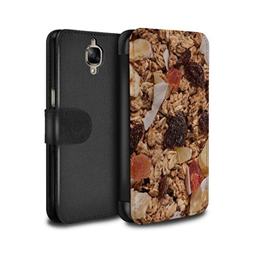 Kleie-müsli (Stuff4® PU-Leder Hülle/Case/Tasche/Cover für OnePlus 3 / Tropischen Müsli Muster/Getreide Kollektion)
