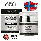 Noruega Naturals Retinol Crema Humectante con ácido hialurónico suero Clinical Strength