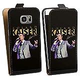 DeinDesign Tasche Hülle Flip Case kompatibel mit Samsung Galaxy S7 Edge Roland Kaiser Musik Schlager