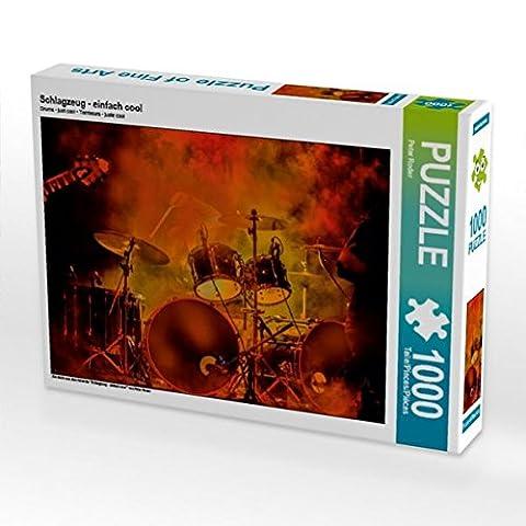 Schlagzeug - einfach cool 1000 Teile Puzzle quer (CALVENDO Kunst)
