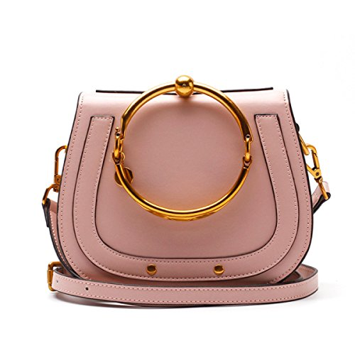 Sacchetti Yy.f Anello Biciclico Borse Selle Borse Della Spalla Diagonale Borse Di Cuoio Pratico Interna Multicolore Pink