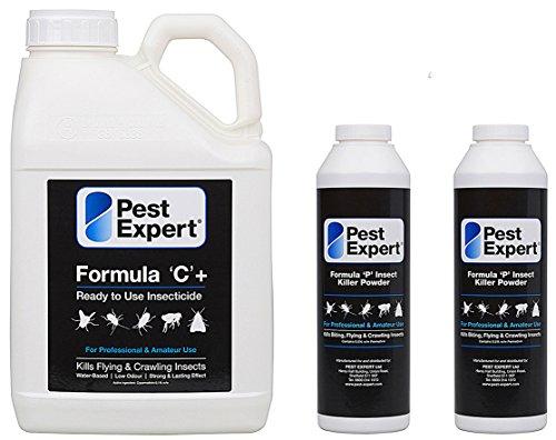 Vaporisateur Formule C de Pest Expert 5Ltr et Poudre tue-mouches pollénie Formula 'P' de Pest Expert 300g x 2