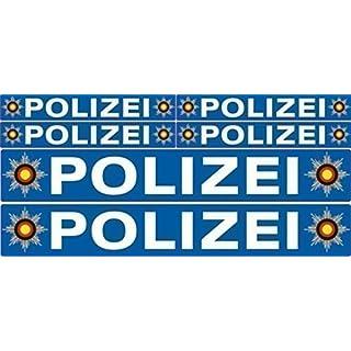 Aufkleber set Polizei für Bike auto boot usw