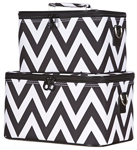 ever-moda-black-chevron-cosmetic-makeup-train-case-2-piece-set-by-ever-moda