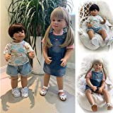 Zaoyun 87cm / 70cm Baby Doll Model,Brown Eyes with Clothes for Children's Clothing Model or Simulation Doll Toy Gift (87cm Girl)