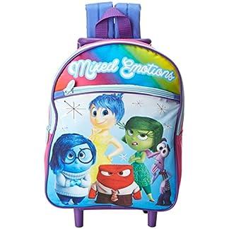 Disney Mochila con ruedas Girls 'Inside Out de 12 pulgadas – Producto con licencia