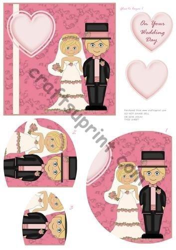 Cute Cartoon wedding arrotondato Side Stacker by Annette Crossley