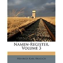 Namen-Register, Volume 3